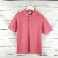 Lacoste Mens Pink Short Sleeve Polo Shirt Size 4 UK Size Medium M