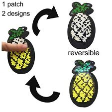 Sequin Pineapple iron on patch reversible design fruit vitamin iron-on patches