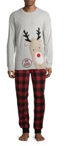 "Holiday Time Men's ""OH DEER"" Family Pajamas PJ Set For Men.. 2XL..NEW!!"