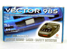 New! Beltronics Vector 985 Digital Radar Laser Safety Detector Travel Case NIB