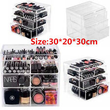 New Clear Acrylic Makeup Case Large 4 Drawers Cosmetic Organizer Jewelry Storage