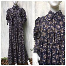 Dress Prairie Vintage LAURA ASHLEY 4 6 70s Wales Victorian Bohemian Floral S