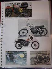 Clipping / artikel  / photos Yamaha MX 2T + 4T (jaren 70 / 80 GER/NED/USA)