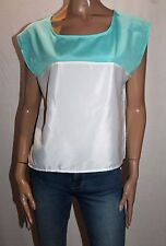 TEMT Brand Jade White Contrast Blouse Top Size 8 BNWT #TF26