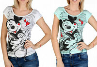 2 Pack T-shirt Disney Alcott Women Donna Topolino Mickey 100% Cotone original