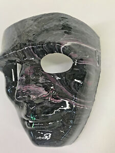 Gray Death Halloween mask Hand painted resin finish-Mardi Gras wall art