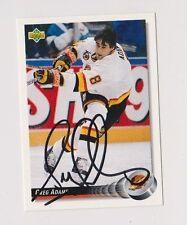 92/93 Upper Deck Greg Adams Vancouver Canucks Autographed Hockey Card