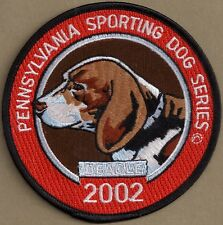 """Pa Fish Game Commission NEW Pennsylvania Sporting Dog 4"""" 2002 Beagle / Dog Patch"""