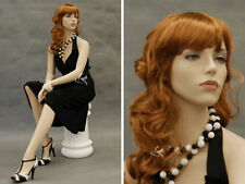 Female Fiberglass Mannequin Pretty Face Elegant Looking Dress Form #Md-9020