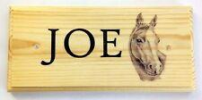 Placa Personalizada B&W Caballo/Sign-Sketch Barn establos Pony Granja nombre