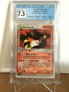 Pokemon CGC 7.5 NEAR MINT+ Typhlosion ex 99/100 EX Sandstorm - Ultra Rare Holo