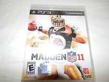 MADDEN 11 PS3 GAME NEW SEALED BLACK LABEL Y FOLD