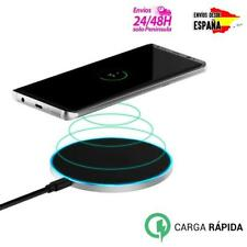 Base de carga QI con carga rápida inalámbrica y LED para iPhone y Android