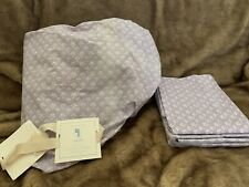 Pottery Barn KIDS Evelyn full Sheet Set New With Faded Area Defects