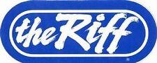 """The RIFF"" WRIF 101 FM Detroit Radio Station bumper sticker (BLUE)"