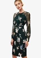 Phase Eight Abrianna Floral Print Shift Dress Forest Size UK12 RRP135