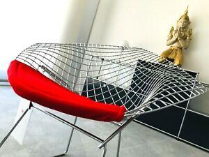 Knoll International Diamond Sessel by Harry Bertoia, Chrom Sitzkissen, NEU