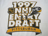 PITTSBURGH!! 1997 vtg NHL ENTRY DRAFT promo T SHIRT hockey 90s XL