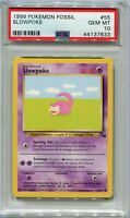 Pokemon Card 3rd Print Slowpoke 1999-2000 Fossil Set 55/62, PSA 10 Gem Mint