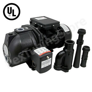 3/4 HP Convertible Shallow to Deep Well Jet Pump w/ Pressure Switch, 115/230V