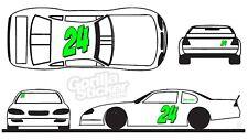 race car number sticker decal set hornet circle dirt track autocross scca truck