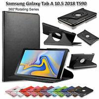 Cuero Soporte Giratorio Funda Para Galaxy Tab A 10.5 T590 T595 Prueba de Golpes