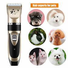 More details for electric pet cat dog grooming clippers hair trimmer shaver kit cordless + 4 comb