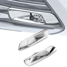 Chrome ABS Front Fog Light Lamp Cover Trim 2PCS Fit for Toyota Camry 2018
