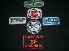 Fishing Patches Original 1980's Lot of 6