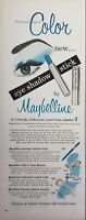 Lot of 3 Vintage 1937 1950's Maybelline Cosmetics Print Ads Choice of Women