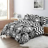 ANIMAL GOTHIC SKULL DUVET COVER SET QUILT COVERS DOUBLE KING SIZE BEDDING SETS