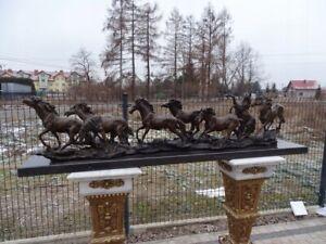 SCULPTURE BRONZE FIGURE - HORSES  #LU95