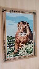"""1 canevas """" le lion """" - SEG - 30x40cm"""