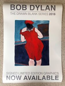 Bob Dylan The Drawn Blank Series Advertising Poster, Woman In Red Lion Pub 2016
