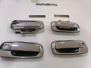 Toyota Aristo JZS161 Chrome door handles Lexus GS300 GS400 Vertex Emblem Aristo