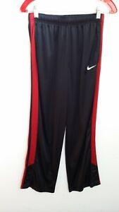 Nike Dri Fit Junior Active Wear Athletic Pants Size XL Black Red Stripe Pockets