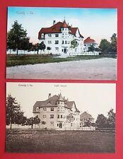 2 x AK COSWIG um 1910/30 Café Röder und Café Saupe ( 31306