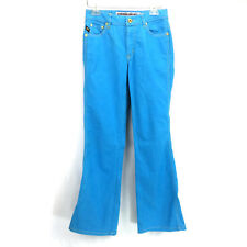 Womens 27 Parasuco Jeans Extreme Fit Stretch Mid Rise Bootcut Teal Blue Denim