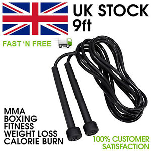 SKIPPING ROPE FITNESS SPEED EXERCISE BOXING GYM JUMP WORKOUT ADULT KIDS FREE P&P