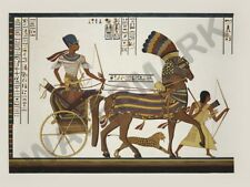 "EGYPTIAN MURAL CHARIOT 12x16 "" POSTER ART PRINT HP3090"