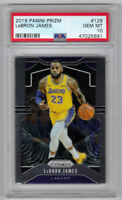 2019 Panini Prizm LA Lakers Star LEBRON JAMES Basketball Card PSA 10 GEM MINT