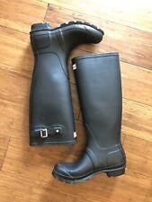 Women's Black Hunter Original Tall Rain Boots Size 5