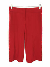 BCBG Max Azria Red Capris Dress Pants Polyester Blend Stretch Womens 2 (29x20)