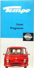 1963 TEMPO UNSER PROGRAMM CATALOGUE EN ALLEMAND