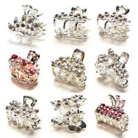 Style New Crystal Flower Mini Hair Claw Clamp Hair Clip Hair Pin LJ