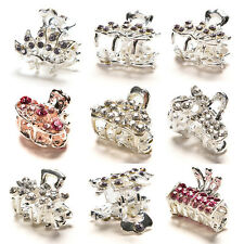 Style New Crystal Flower Mini Hair Claw Clamp Hair Clip Hair PineoG