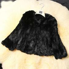Winter Fashion Women Real Rabbit Fur Coat Jacket Outwear Short Jackets S-XXL New