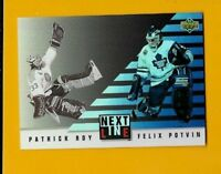 22349 PATRICK ROY 1993/94 UPPER DECK NEXT IN LINE MAPLE LEAFS 🏒 CARD #NL6