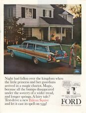 Vintage Print advertisement ad Car FORD 1963 Falcon Squire Station Wagon Schulz