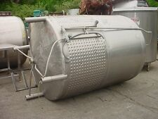 900 gallon stainless steel jacketed tank FOOD GRADE with mixer